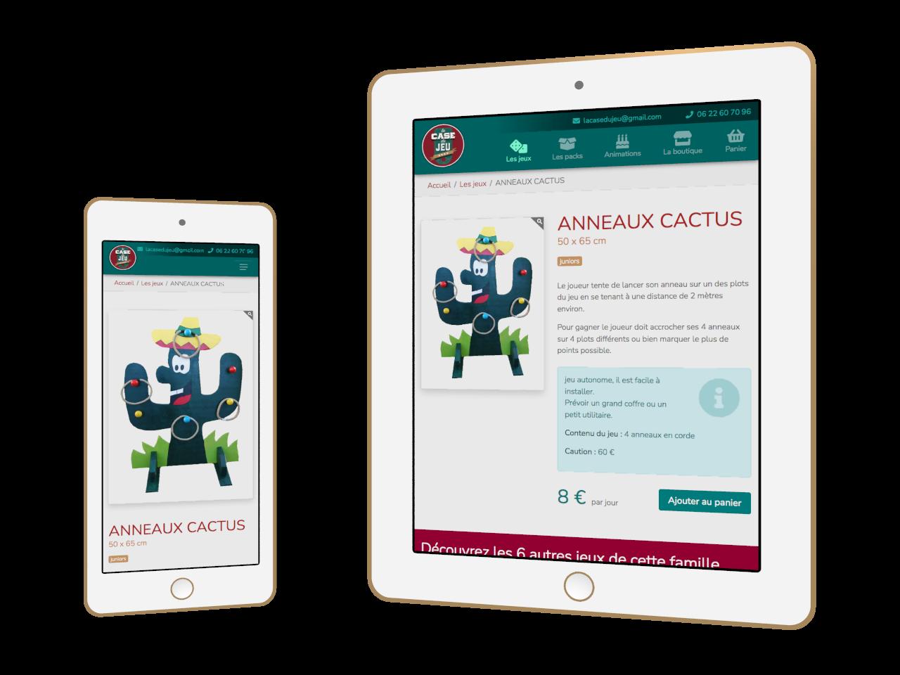 Micraux, nos clients sont nos meilleurs ambassadeurs : vue adaptative sur smartphone et tablette pour La Case Du Jeu